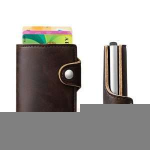 Creditcard houder met cardprotector (RFID) voor 6 pasjes in pu leather donker bruin_002