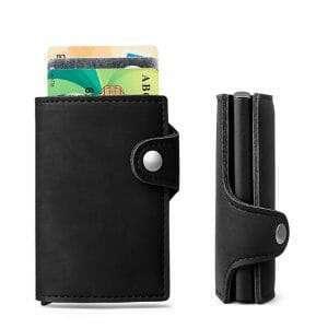 Creditcard houder met cardprotector (RFID) voor 6 pasjes in pu leather zwart_006