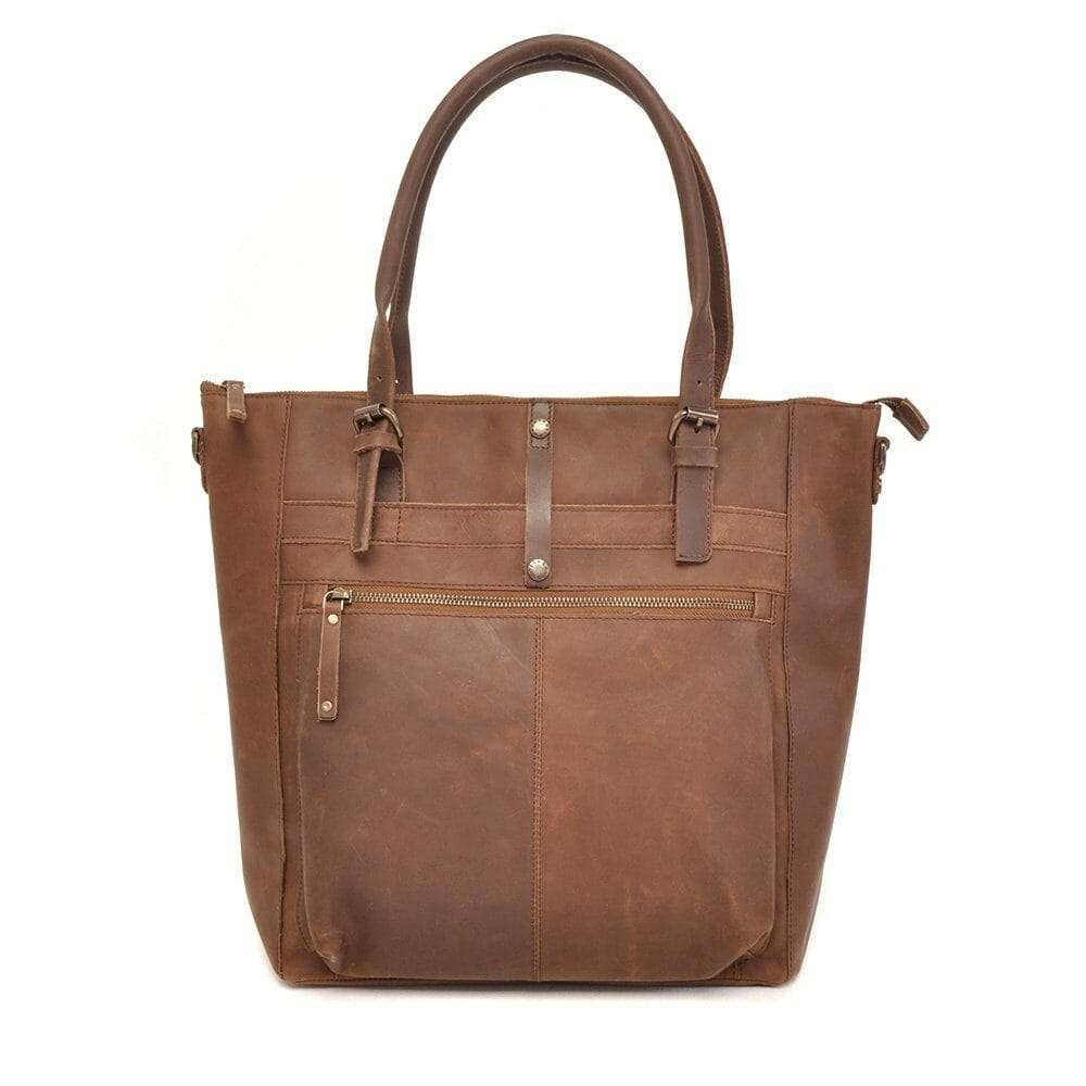 d832d101a1e Berba Leren dames shopper Barbarossa 825-810 - Coffee Coffee