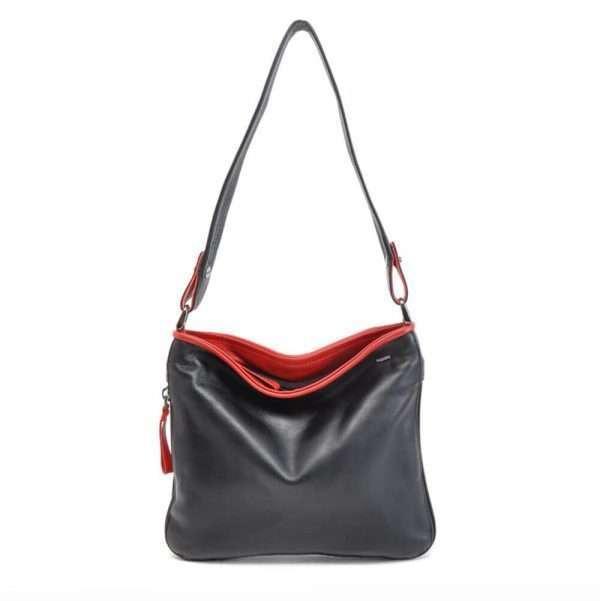 Berba-Leren-Dames-Handtas-Soft-005-839-zwart_rood.jpg